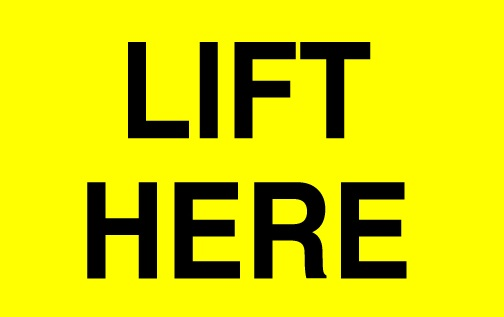 Labels - Lift Here Labels
