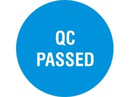 "Labels - 2"" Round Blue - ""QC PA"""