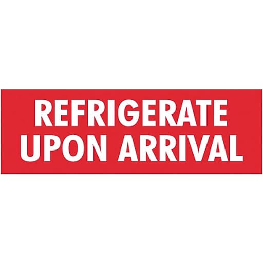 Labels - Refrigerate upon Arrival
