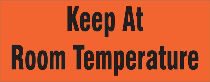 Labels - Keep at Room Temperature