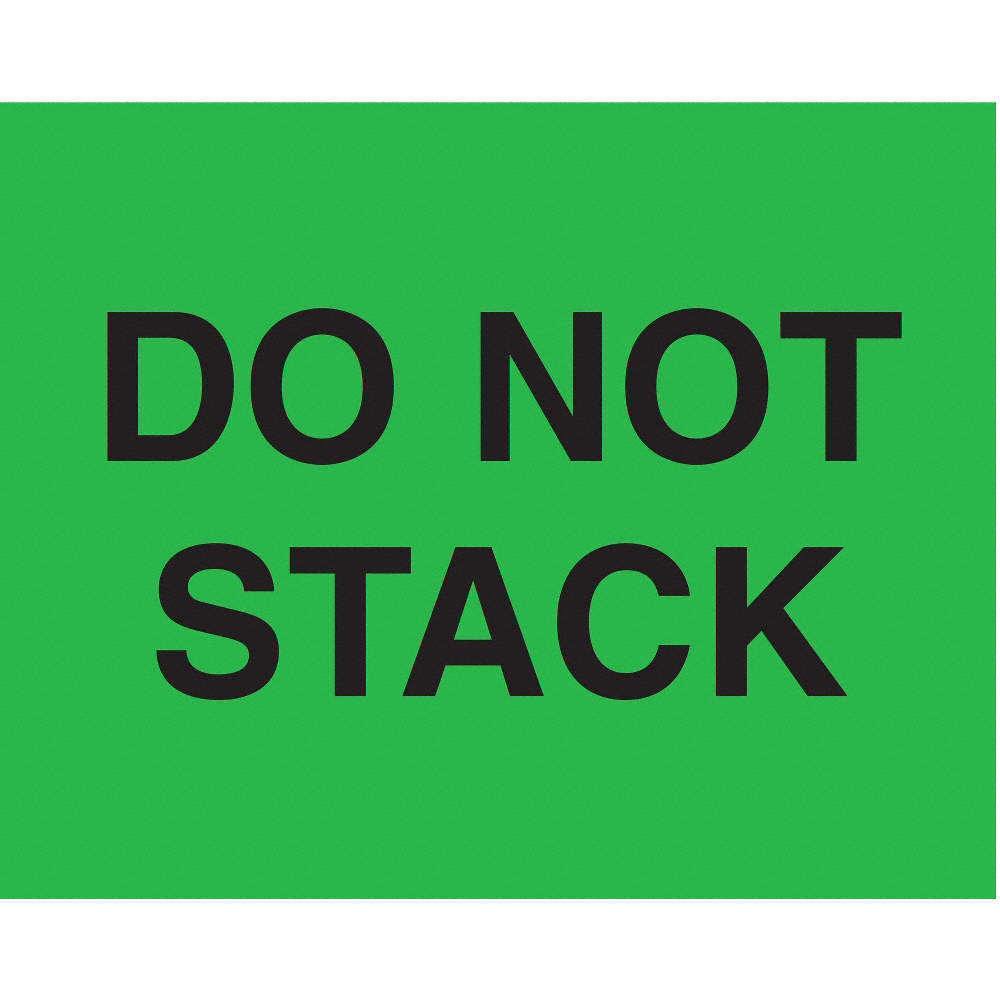 "Labels - Do Not Stack-GREEN 2"" x 5"""