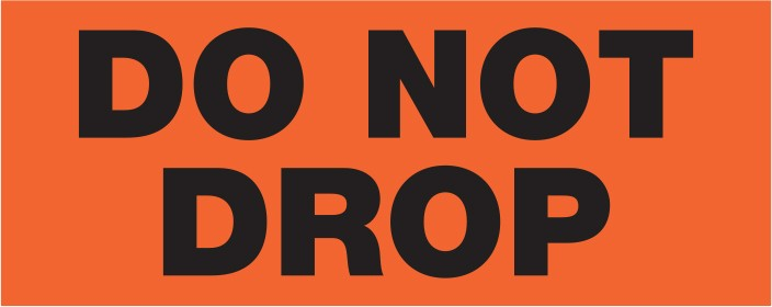 "Labels - Do Not Drop - 2"" x 5"""