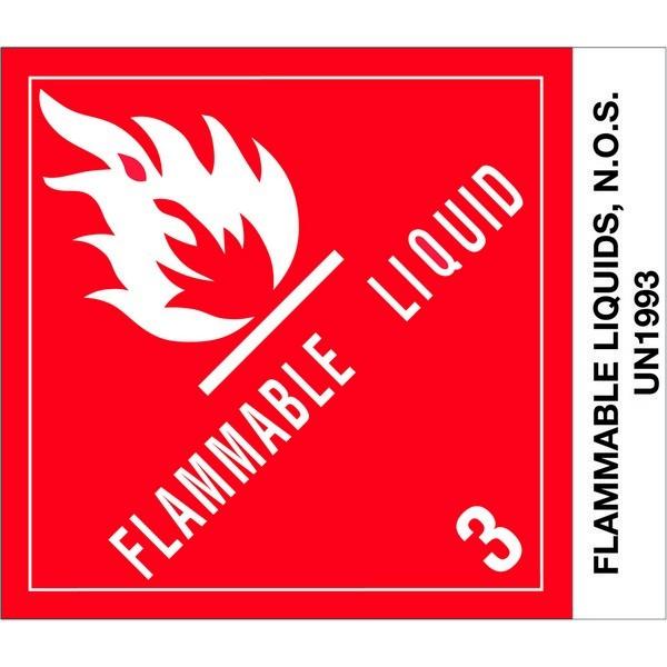 """Labels - Class 3 - PAINT UN 1263 - 4"""" x 4 3/4"""""""