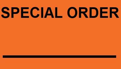 "Labels - Special Order - 3.5""x 5"" - Orange (500/roll)"