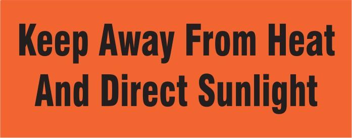 Labels - Keep Away From Heat & Sun