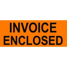 "Labels - Invoice Enclosed 2"" x 5"""