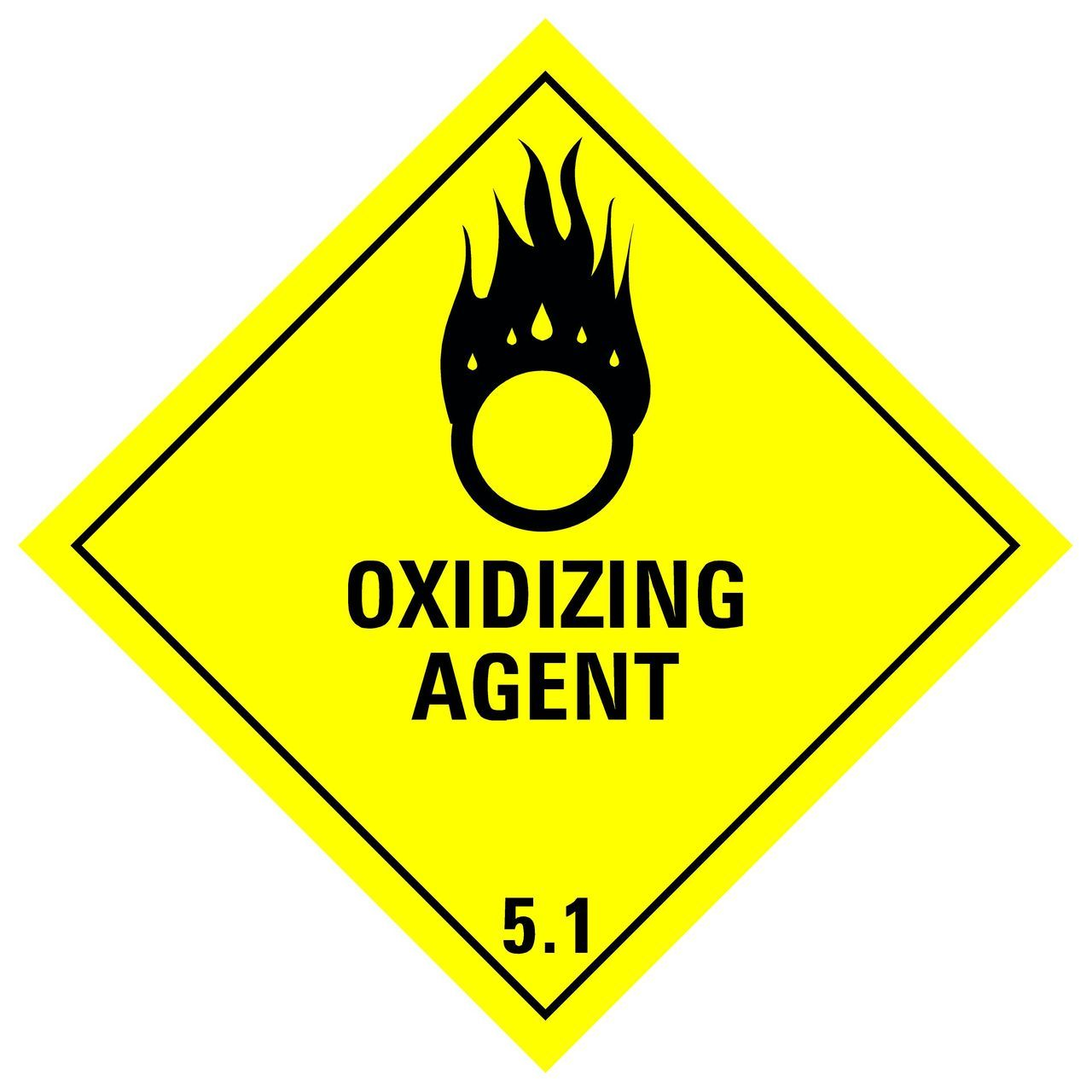 Labels - Class 5 - Oxydizing #501