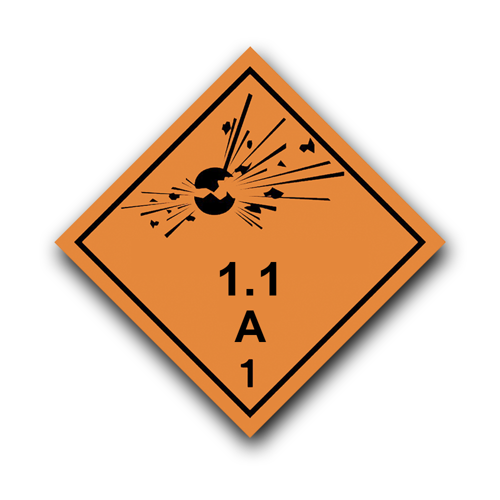 Placard - Explosives (100/pack)