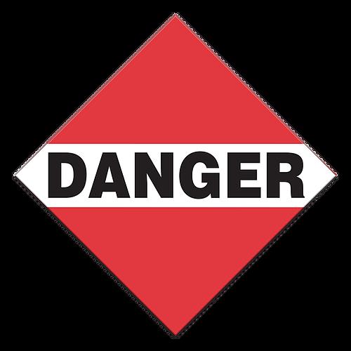 Placard - Danger - Peel & Stick (100/pack)