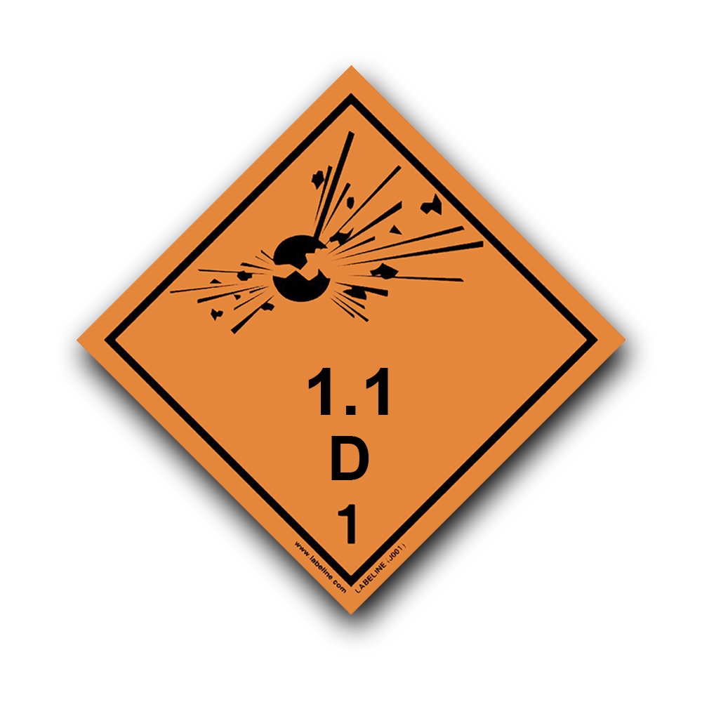 Placard - Class 1.1 D