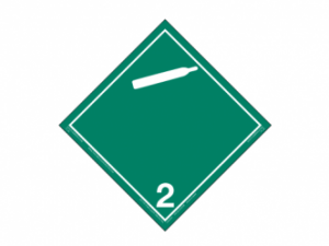 Placard - Class 2.2 - Compressed Gas - Green - Peel & Stick