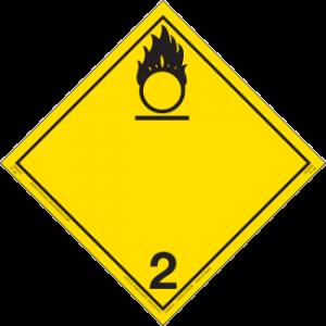 Placard - Class 2 - Yellow