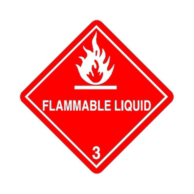 Placard - Class 3 - Flammable Liquids (100/pack)