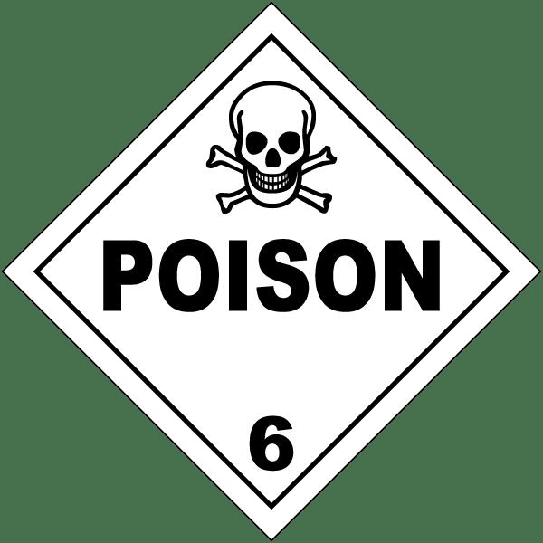 Placard - Class 6.1 - Poisonous (100/pack)