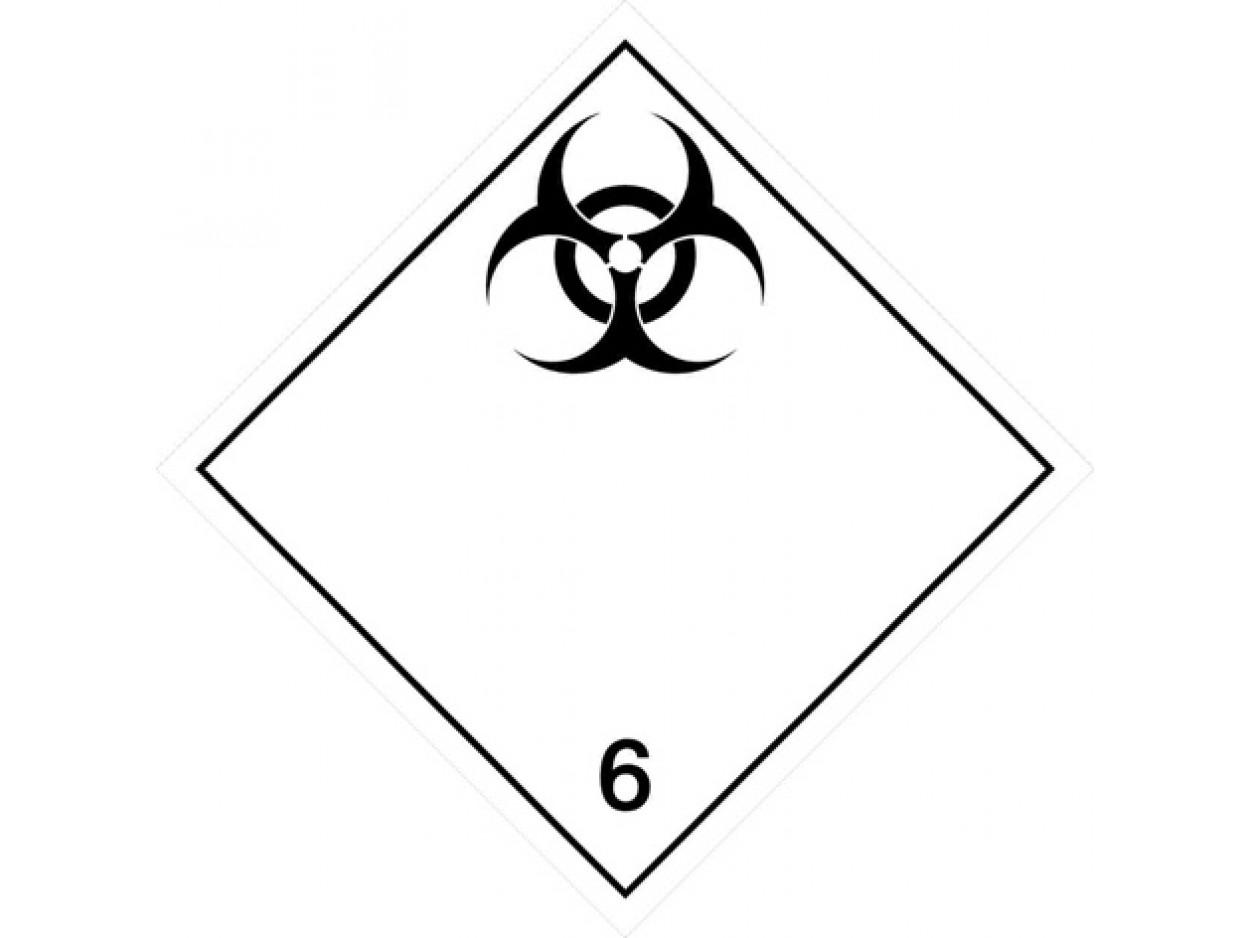 Placard - Class 6.2 - Infectious Substances (100/pack)