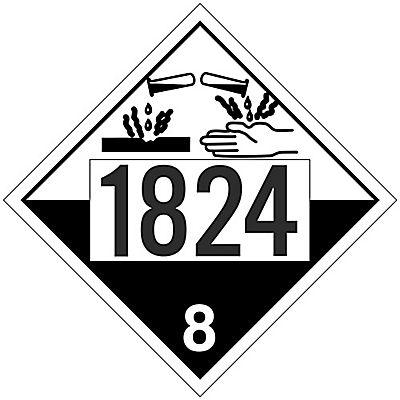 Placard - Class 8 - UN1824 (100/pack)