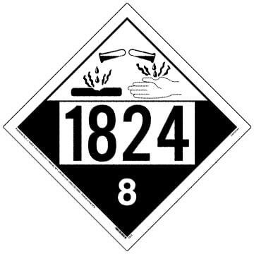 Placard - Class 8 - UN1789 (100/pack)