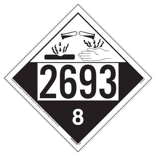 Placard - Class 8 - UN2693 (100/pack)