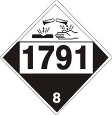 Placard - Class 8 - UN1791 (100/pack)