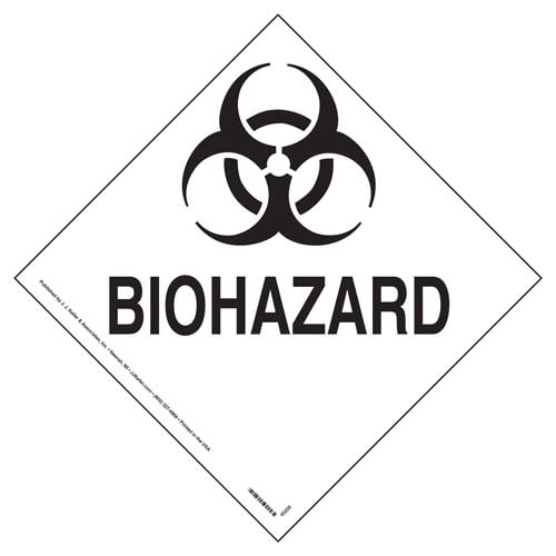Placard - Biohazard (100/pack)