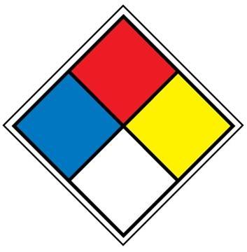 Placard - NFPA - 4 colour (100/pack)