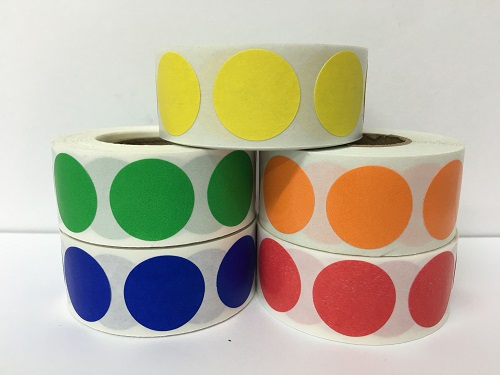 """Labels - Bright Yellow - 2"""""""
