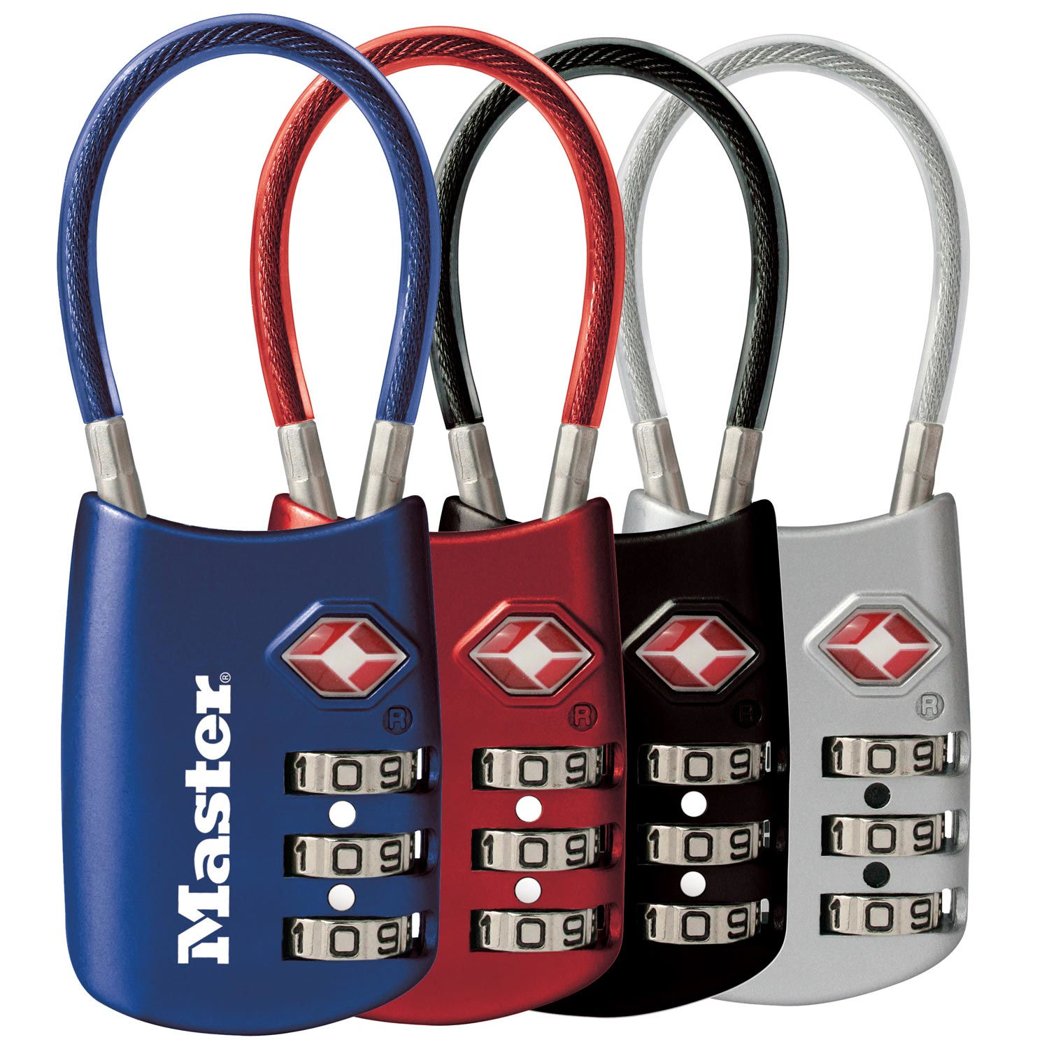 "Luggage Combination Padlock 2""W Assorted Colors (4/pkg)"