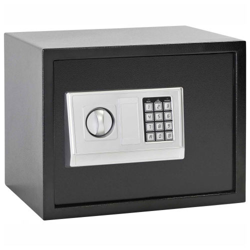 "Electronic Safe - Steel, Black -14-7/8""W x 11-13/16""D x 11-13/16""H"