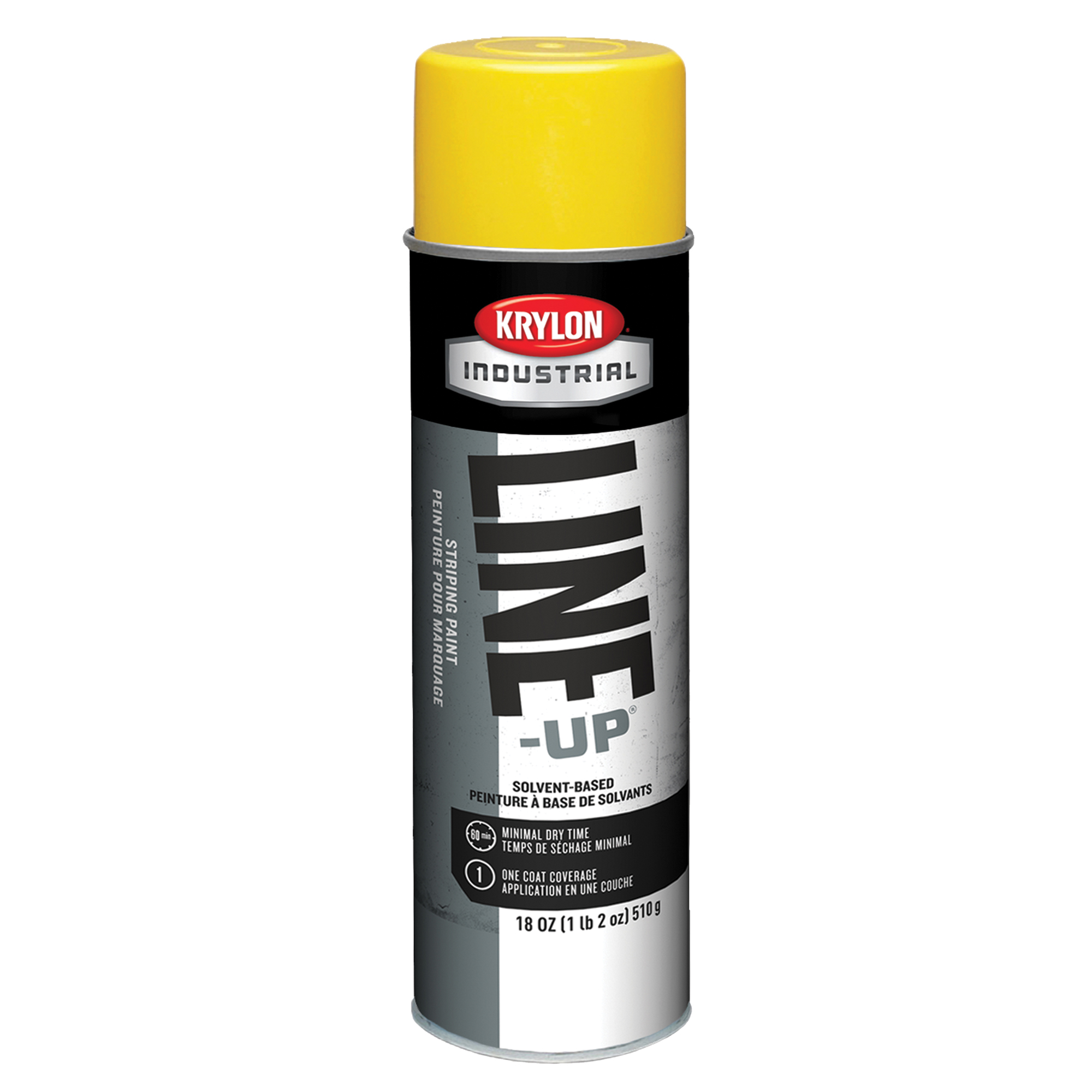 Inverted Striping Paint Aerosol, Caution Yellow 17 oz - 6/pkg
