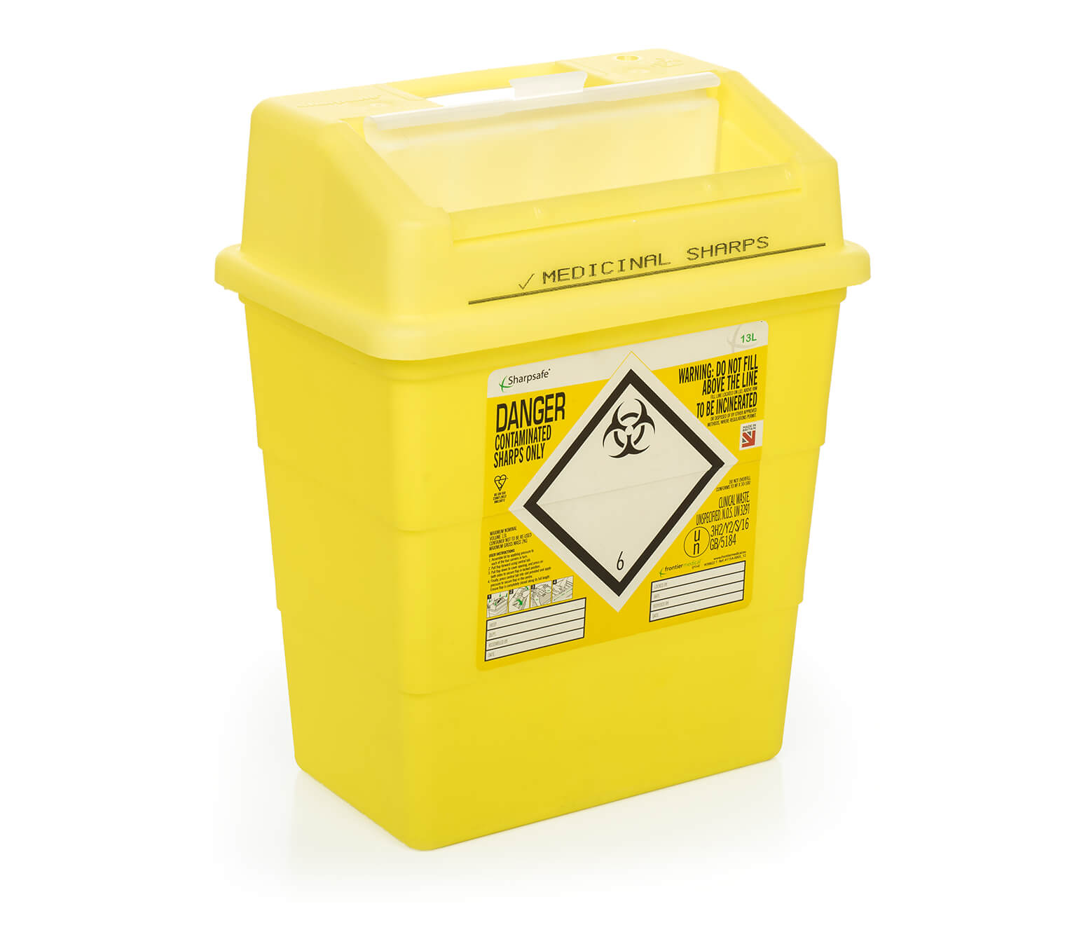Olfa - Knife Disposal Container w/lid - Sharps Safe - Yellow