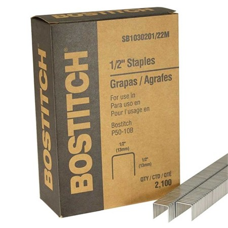 "Staples - Bostitch - Leg Crown Pliers - 1/2"" (2100 /box)"