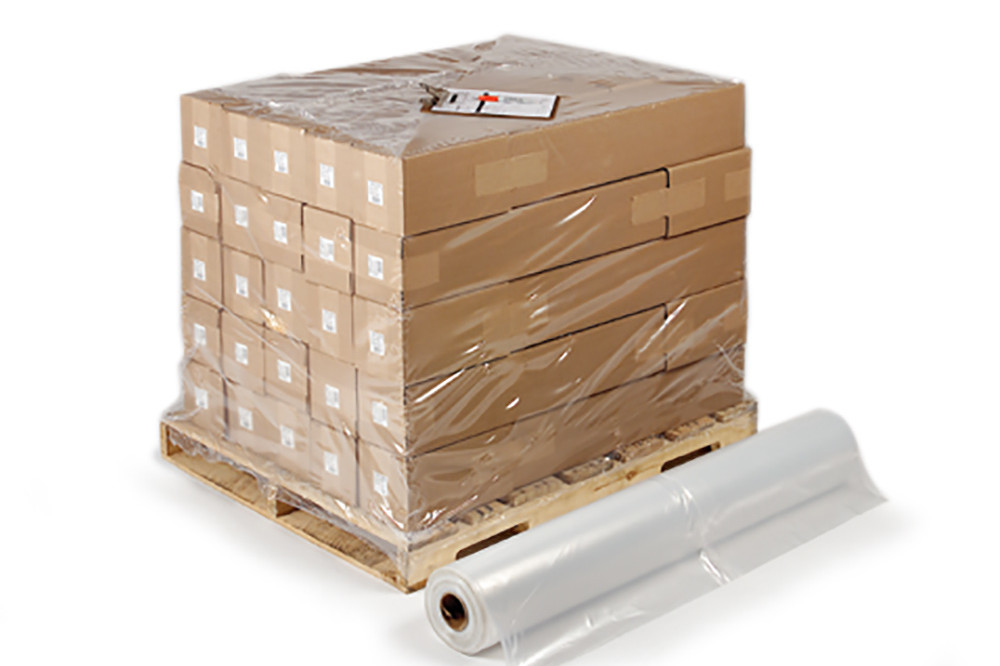 "Pallet Cover - Clear - 48 x 42"" x 48"" - 1.25 mil (150/roll)"