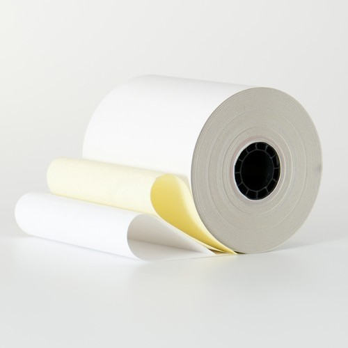 "2 Ply Paper Roll - Yellow/White - 3"" x 3"" (50 rolls/box)"