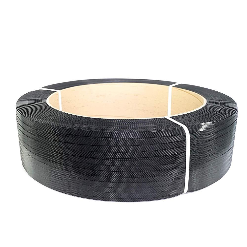"Plastic Strapping - 1/2"" x 7200' 16"" x 6"" Core, Black"