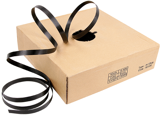 "Plastic Strapping - Black - 1/2"" x 3000'"