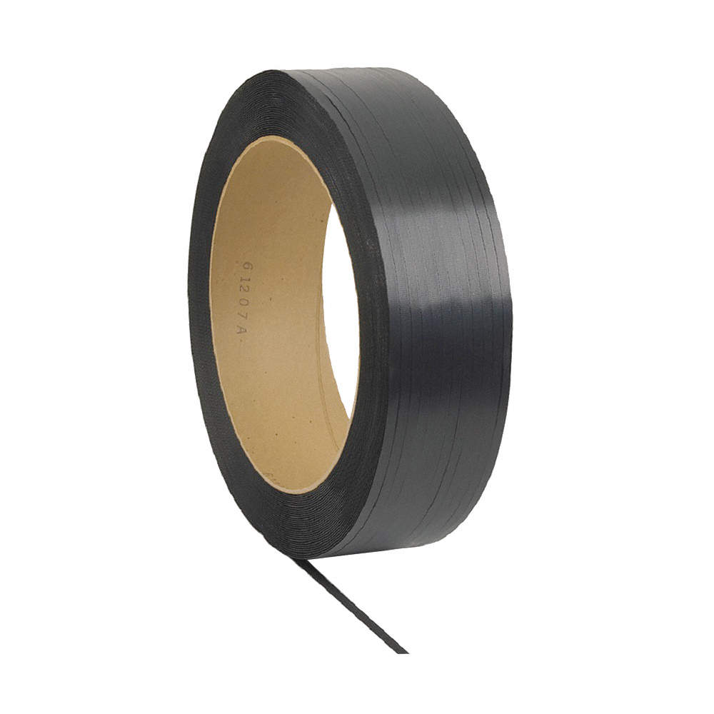 "Plastic Strapping - Black - 1/2"" x 9900' (300 lb)"