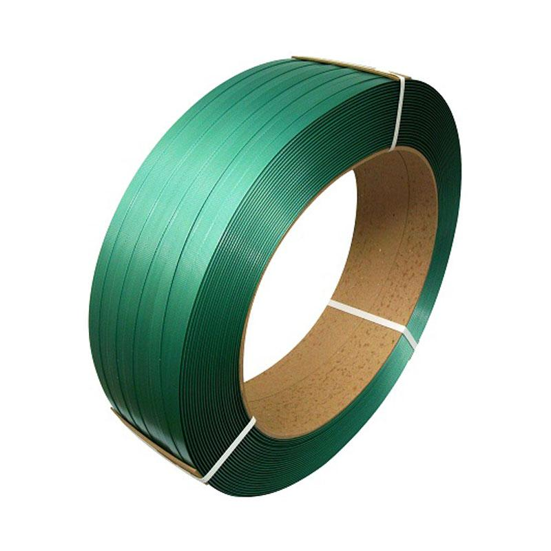 """Poly Strapping - 5/8"""" x .035 x 4000' x 1400lb TS - 16"""" x 6"""" Core - Green, Embossed"""