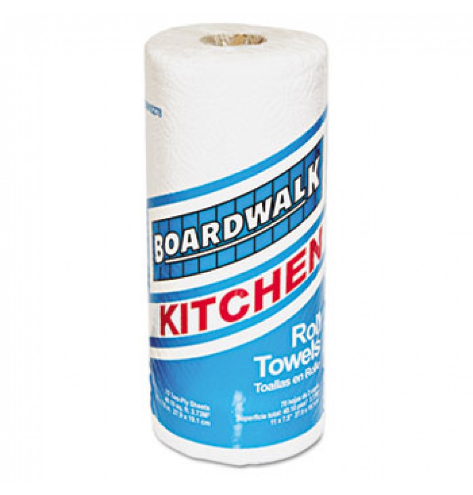 Paper Towels - White Perforated Household Paper Towel Rolls (90 sheets per roll-30/cs)