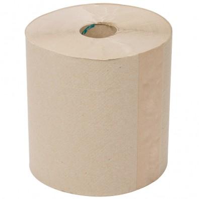 Paper Towel - 1 Ply Hardwound Roll Towel (w/Plastic Tip) 800' - White (6/cs)