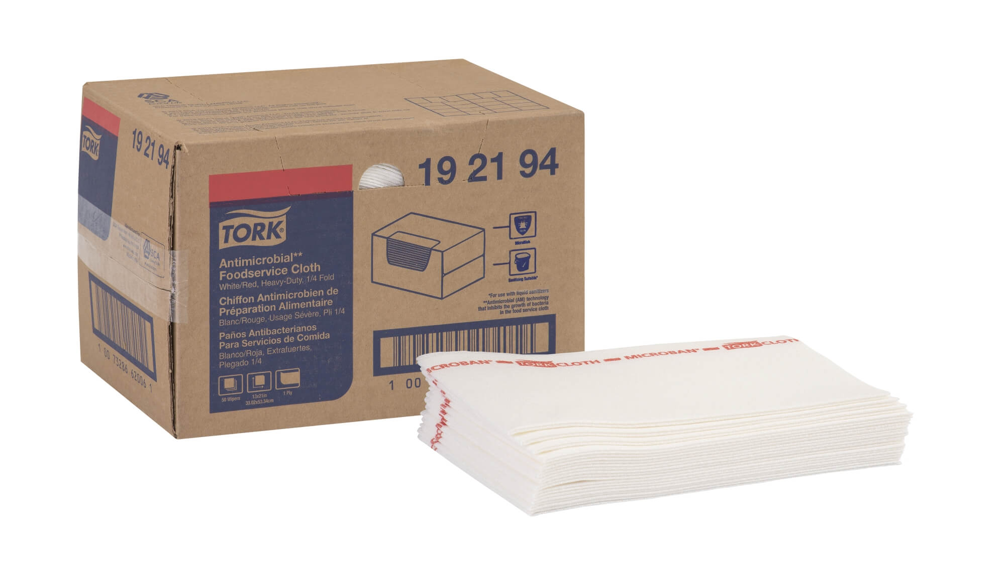 "Deluxe Antimicrobial Foodservice Wipe - 13 x 21"" (150/cs)"