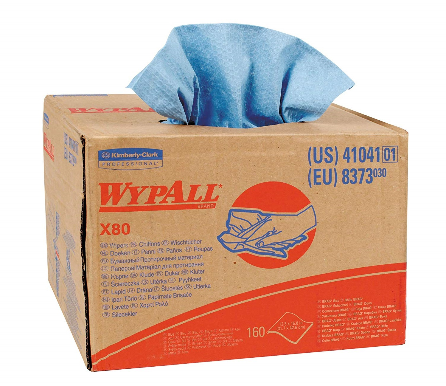 Wypall X80 - Brag Blue 160/box