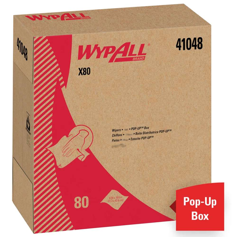 Wypall X80 - White Wipes (80 wipes/roll), Product#: KC41048