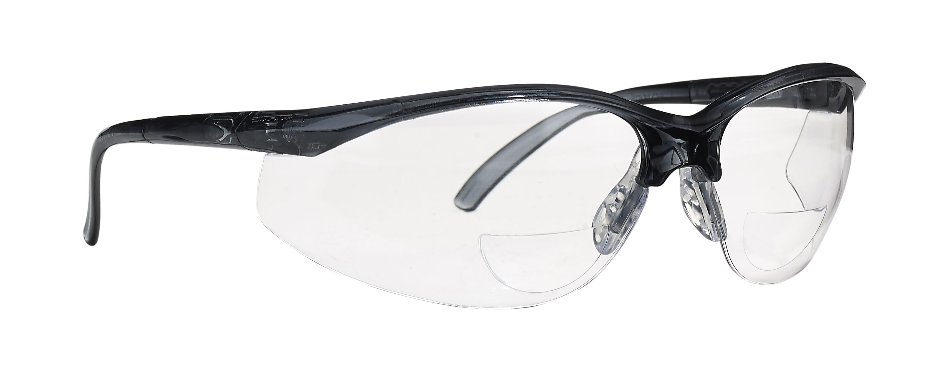 Safety Glasses - Dynamic Safety Renegade Reader's - Grey w/Clr Lens - 1.5 Diopter