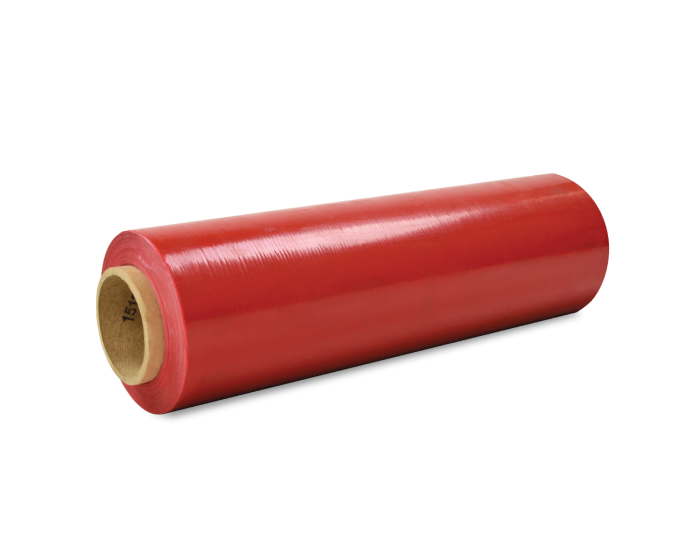 "Hand Stretch Film - Red - 18"" x 1000' - 80 gauge"