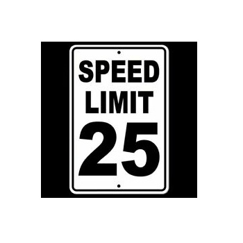 Sign - Speed Limit 25 km/hr - 24 x 24""