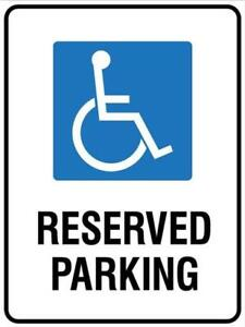Sign - Disabled Parking - 300 mm x 450 mm