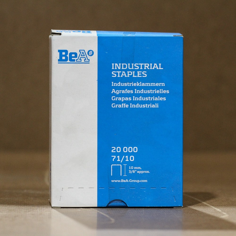"Staples - BEA 71/10, 22G 3/8"" - 3/8"", 20m/box"