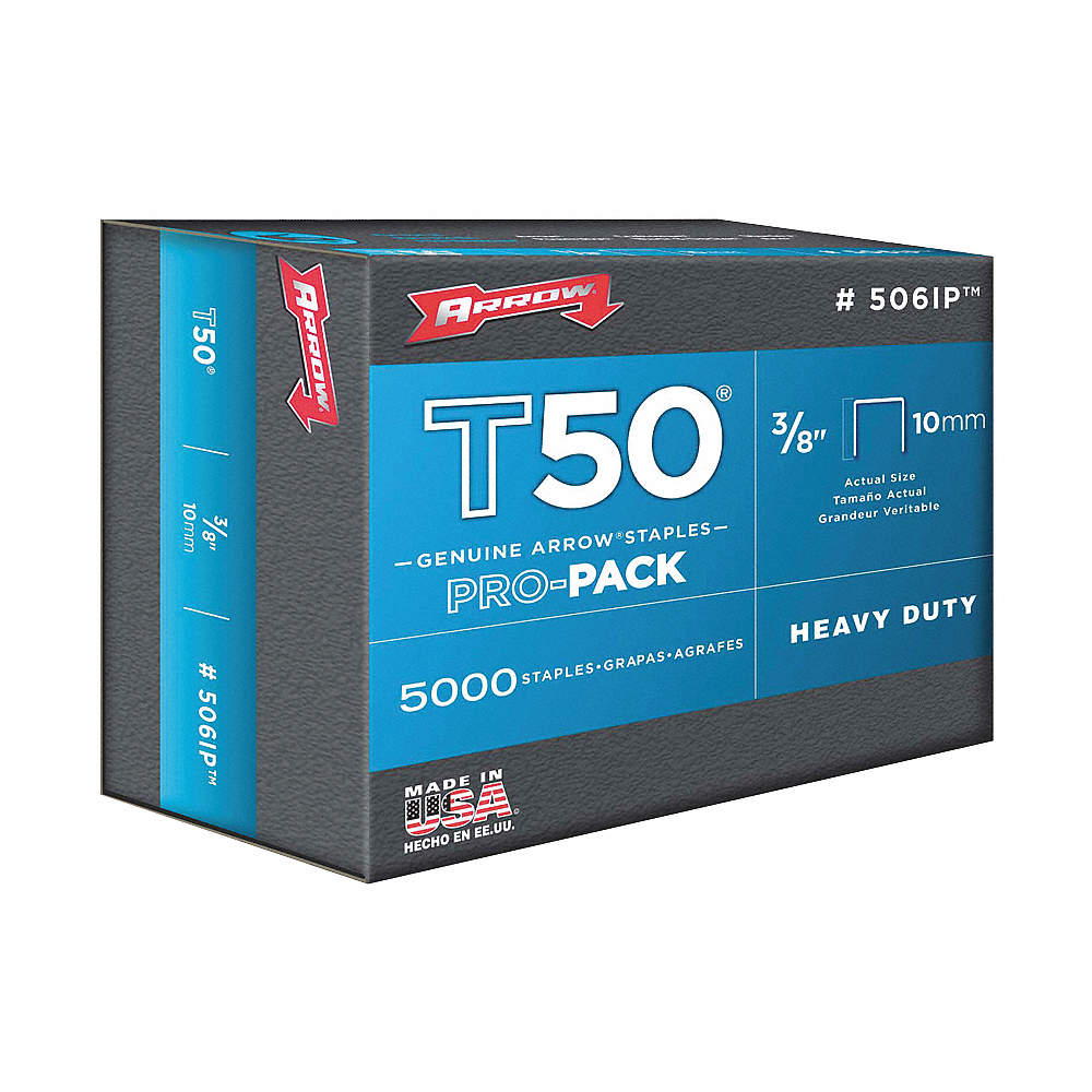 Staples - for T50, #506IP - Pointed - 3/8 (5000 /b