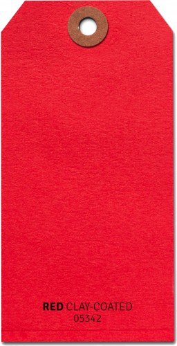 Shipping Tags #5 - Red (1000/b)