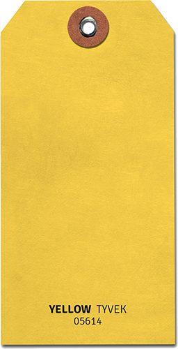 Shipping Tags #5 - Tyvek - Yellow (1000 /b)